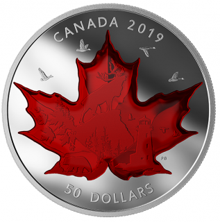 2019 - $50 - 5 oz. Pure Silver Coin - Celebrating Canada's Classic Icons