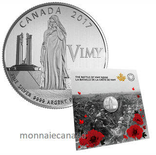 2017 - $3 - 100th Anniversary of the Battle of Vimy Ridge Pure Silver Coin