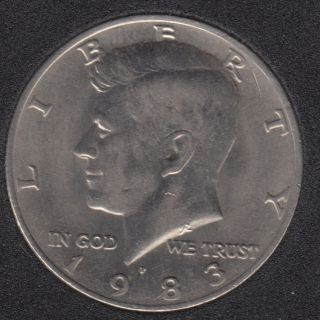 1983 P - Kennedy - 50 Cents