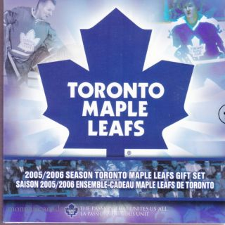 2005 2006 Season Toronto Maple Leafs 25 cents coloured - Gift Set