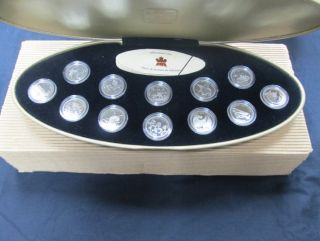 1999 - 25 Cents - Sterling Silver Proof Millennium Set