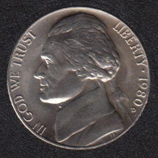 1980 D - Jefferson - B.Unc - 5 Cents