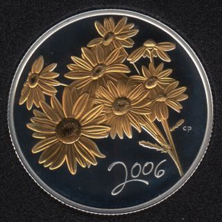 2006 - Proof - Golden Daisy - Sterling Silver - Canada 50 Cents