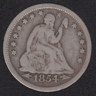 1854 - 25 Cents