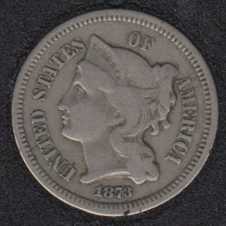 1873 - Nickel 3 Cents