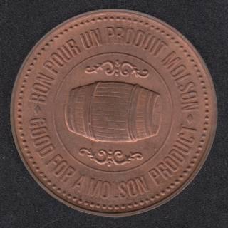 1986 - 1786 - B.Unc Molson (Bon pour un produit Molson)