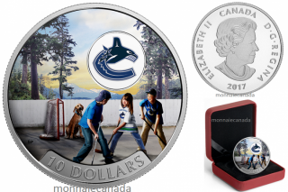 2017 - $10 - 1/2 oz. Pure Silver Coloured Coin – Passion to Play: Vancouver Canucks®