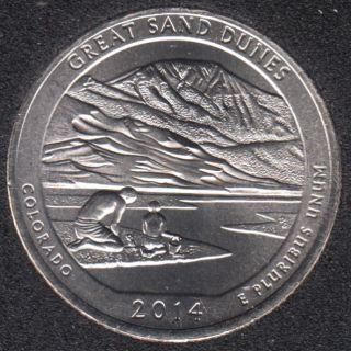 2014 D - Great Sand Dunes - 25 Cents
