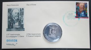 1994 Timothy Eaton 125 - $50 Dollars + Stamp - Darnell - 1 OZ Fine Silver