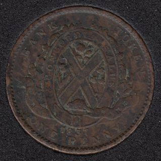 L.C. 1837 Quebec Bank - Penny Token - LC-9B