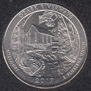 2017 P - Ozark Riverways - 25 Cents