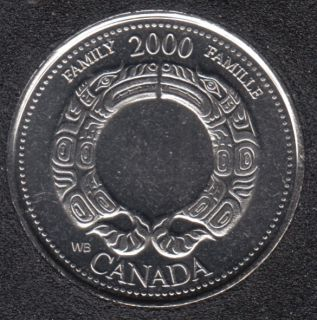 2000 - #8 B.Unc - Family - Canada 25 Cents