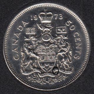 1973 - Manque 'A' - Canada 50 Cents