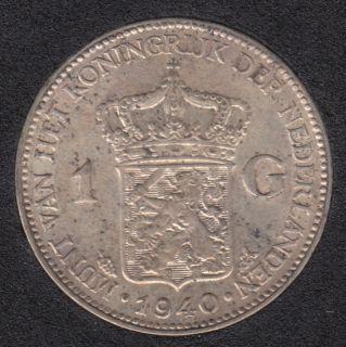 1940 - 1 Gulden - Pays-Bas