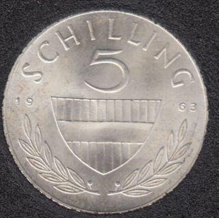 1963 - 5 Schilling - Argent - Autriche