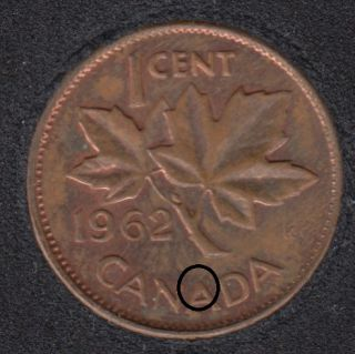 1962 - Filling A - Canada Cent