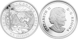 2013 - $20 - 1 oz Fine Silver Coin - A.Y. Jackson, Saint-Tite-des-Caps