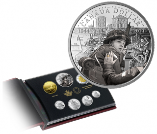 2019 - Special Edition Silver Dollar Proof Set: 75th Anniversary of D-Day