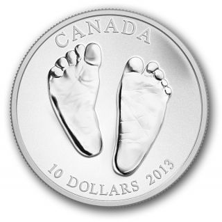 2013 - $10 - 1/2 oz Fine Silver Coin - Welcome to the World