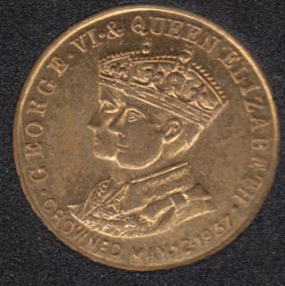 1937 - Coronation George VI - Elisabeth - Souvenir Token Jeton - Opera Cocktail de Luxe