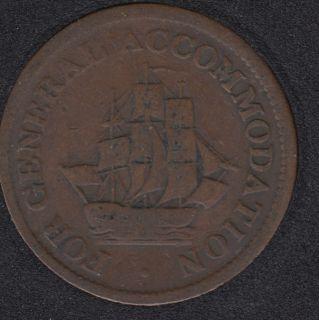 AM - Pure Copper preferable to Paper Half Penny Token - AM-1A4