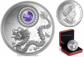 2016 - $5 - Fine Silver Coin made with Swarovski® Crystal - Birthstone - December