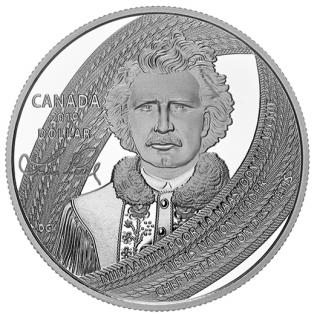 2019 - $1 - Dollar épreuve numismatique édition spéciale - Louis Riel, père du Manitoba