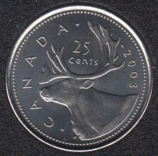 2003 P - NBU - OE - Canada 25 Cents