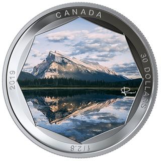 2019 - $30 - Pure Silver Coloured Coin - Peter McKinnon Photo Series: Mount Rundle