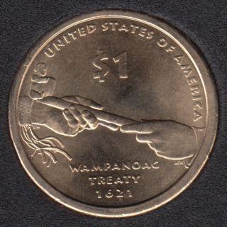 2011 P - Wampanoag Treaty - Native Dollar