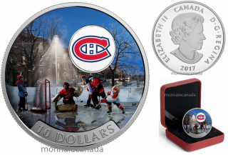 2017 - $10 - 1/2 oz. Pure Silver Coloured Coin – Passion to Play: Montreal Canadiens®