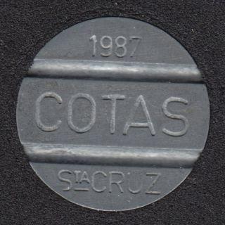 Telephone -1987 - Cotas Santa Cruz - Jeton