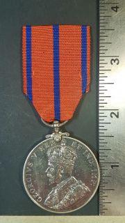 #243 Metropolitan Police Coronation Medal, 1911 George V