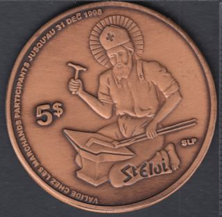 Saint-Éloi - 1998 - 1848 - 150° Ann. - Saint-Éloi - $5 Trade Dollar