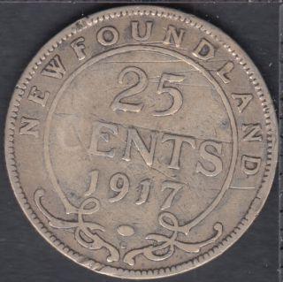 Newfoundland - 1917 C - 25 Cents