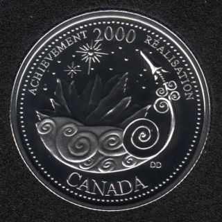 2000 - #3 Proof - Silver - Achievement - Canada 25 Cents