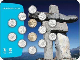 2010 - Vancouver – Collection de pièces de circulation Inukshuk