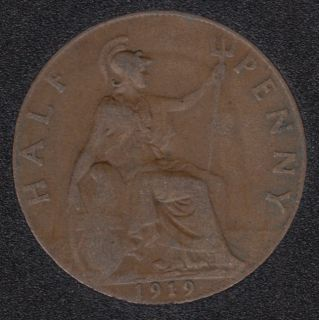 1919 - Half Penny - Great Britain