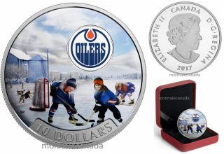 2017 - $10 - 1/2 oz. Pure Silver Coloured Coin – Passion to Play: Edmonton Oilers®