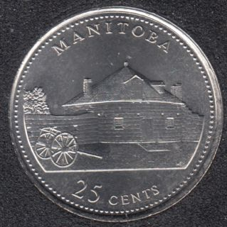 1992 - #4 B.Unc - Manitoba - Canada 25 Cents