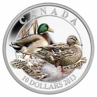2013 - $10 Fine Silver Coin - Mallard