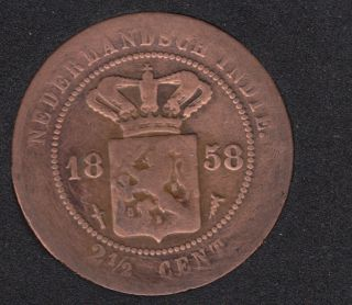 1858 - 2 1/2 Cent - Pays-Bas - East-Indies - Kingdom of Netherlands
