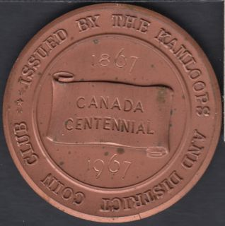 1967 - 1867 - Kamloops and District Coin Club - Canada Centennial