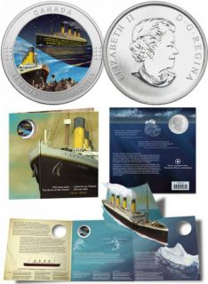 2012 R.M.S. TITANIC 25 CENTS COLORED 100TH ANN.