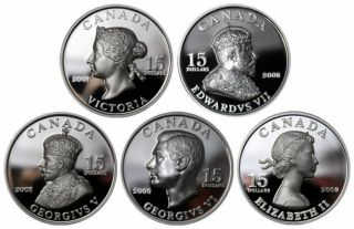 2008 2009 $15 Silver Ultra High Relief 5 = Vignettes of Royalty Series