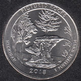 2018 D - Pictured Rocks - 25 Cents