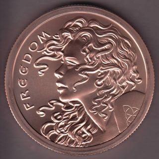 2015 Silver Shield - 5 oz 999 Pure Copper - Freedom Girl
