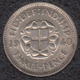 1940 - 3 Pence - Grande Bretagne