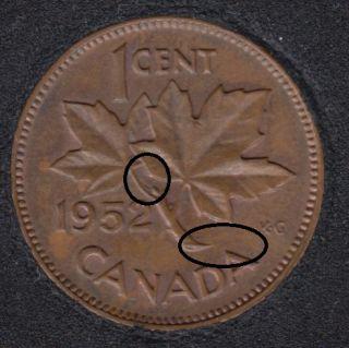 1952 - AU - Clash on Branch & Half Moon - Canada Cent