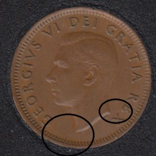 1951 - Break Bust to Rim to E - Canada Cent